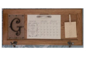 calendar board comes with letterinitial of your choice or a wooden cross and calendar refill - Wooden Cross Frame